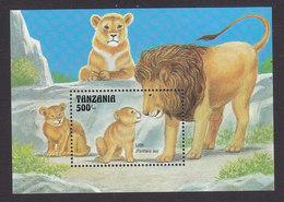 Tanzania, Scott #1002, Mint Never Hinged, Lions, Issued 1993 - Tanzania (1964-...)
