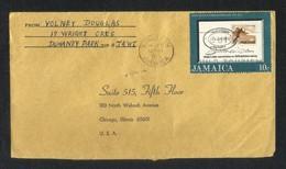 Jamaica Air Mail Postal Used Cover Jamaica To USA Game Sport - Jamaica (1962-...)