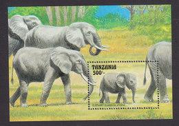 Tanzania, Scott #1003, Mint Never Hinged, Elephants, Issued 1993 - Tanzania (1964-...)