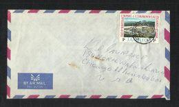 Jamaica Air Mail Postal Used Cover Jamaica To USA Stadium Game Sport - Jamaica (1962-...)