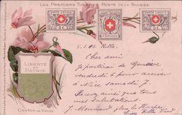Suisse, Les 1er Timbres De La Poste Suisse Et Armoirie, Litho (9.2.1903) - Timbres (représentations)