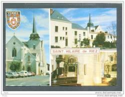 85 SAINT HILAIRE De RIEZ ... Carte Multi Vues, L'eglise Voitures D'epoque ... (cpsm) - Saint Hilaire De Riez