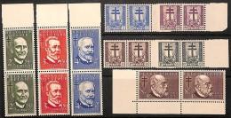 [651027] **/Mnh-BELGIQUE 1953 - N° 930/37, Croix De Lorraine Et Dragons, Savants, Antituberculeux, Personnalités, Paires - Belgium