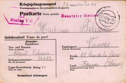 Allemagne - France - Kriegsgefangenenpost - Postkarte De Prisonnier De Guerre - Stalag VC - Allemagne