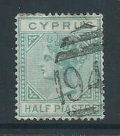 Cyprus 1881 1/2 Piastre QV FU - Chypre (République)