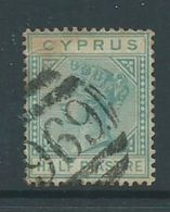 Cyprus 1881 1/2 Piastre QV Used , Toned - Cyprus (Republic)
