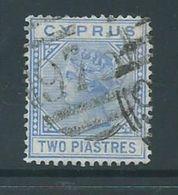 Cyprus 1881 2 Piastre QV FU - Chypre (République)