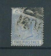 Cyprus 1881 2 Piastre QV Used , Faulty Perfs - Cyprus (Republic)