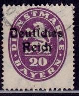 Germany, Bavaria, 1920, Official , 20pf, Sc#O55, Used - Bavaria
