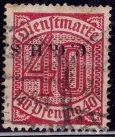 Germany, 1920-21, Upper Silesia, Official, 40pf, Sc#O7, Used - Deutschland