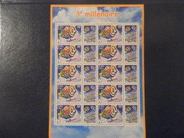 FRANCE BLOC-FEUILLET YTF3365 - 3ème MILLENAIRE** - FDC