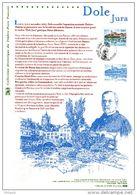 """FRANCE 2007 : """" DOLE / JURA / PASTEUR """" Document Philatélique Officiel . N° YT 4108. (Prix à La Poste = 5.00 €). DPO - Louis Pasteur"""