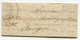 INDRE ET LOIRE De SAVIGNE LAC Par Porteur Du 18/02/1850 Avec Cachet De La Mairie ( 2 Scans) - 1849-1876: Classic Period