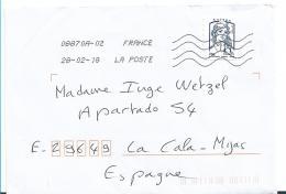 FS884 FRANKREICH .- Marianne In Grober Zähnung  Auf Brief 2018 - France