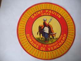 VARIANTE étiquette Fromage Franche Comté 70 Saint-Paulin Gras VERCHAMP Landel & Cie Loulans Vache Fermière Rouet - Formaggio