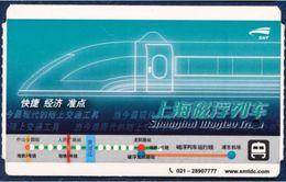 CHINA - CHINE - CINA TRANSPORTATION CARD TICKET SUPER SPEED MAGLEV TRAIN SHANGHAI - Chemins De Fer