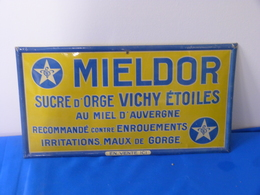 """Plaque Métal """"MIELDOR"""" Sucre D'orge VICHY (03) - Sucreries & Gâteaux"""