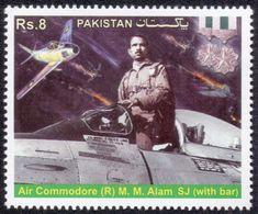 2014 Pakistan Air Commodore (R) M. M. Alam, Militaria, Aviation (1v) MNH (PK-98) - Airplanes