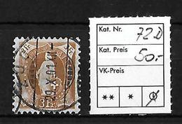 1882 - 1906 STEHENDE HELVETIA Gezähnt → SBK-72D Mit Stempel ZUG - 1882-1906 Armoiries, Helvetia Debout & UPU