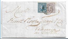 Por115 / Luis I 1880, 25 + 50 R. Ex Porto - Cartas