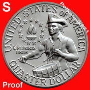 """USA, 25 Cents, Quater Of 1976, """"S"""". PROOF! - Federal Issues"""