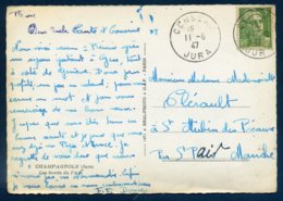 Censeau Jura 1947 719 Gandon Seul Tarif 5F CP Champagnole Les Bords De L'Ain - Marcofilia (sobres)