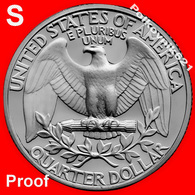 """USA, 25 Cents, Quater Of 1989, """"S"""". PROOF! - Federal Issues"""