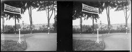 PN 05 - JEUX OLYMPIQUES DE BERLIN 1936 Route Devant L'entrée Du Village Olympique Près Döbéritz - Plaques De Verre