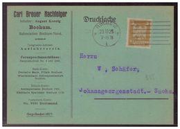 Dt- Reich (006094) Postkarte Mit Werbung Carl Benz, Hölzerne Kastenschiebkarren, Gelaufen Bochum Am 20.10.1925 - Deutschland