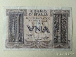 1 Lira 1939 - Italia – 1 Lira