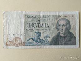 5000 Lire 1971 - [ 2] 1946-… : Républic