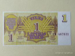 1 Rublis 1992 - Lettonie
