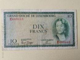 10 Francs 1954 - Lussemburgo