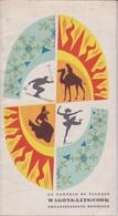 OPUSCOLO-DEPLIAN -  WAGONS - LITS // COOK - ANNI 50 - FORMATO 11,5X21 - PAGINE 19 PIEGATE A META' - Toeristische Brochures