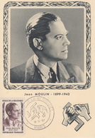 Carte  Maximum  1er Jour   HEROS  DE  LA  RESISTANCE   Jean   MOULIN    1957 - Maximumkaarten