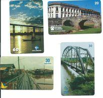 4 Télécartes Brésil Pont Bridge (D 361) - Paysages
