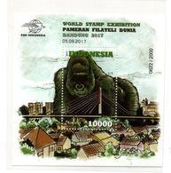 INDONESIA 2017 MONKEY KINGKONG GREEN STAMP EXHIBITION 5.8 SS SOUVENIR SHEET STAMPS MNH - Indonésie