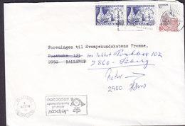 Denmark HELLERUP 1991 Cover Brief BALLERUP Readressed SØBORG Return To Sender (2 Scans) - Dänemark