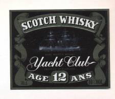 Etiquette De Scotch  Whisky   -   Yacht Club -  Ecosse       (Thème Bateau Voilier) - Whisky