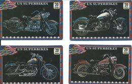 4 Télécartes Angleterre Moto Superbikes Angleterre Royaume-uni (D 362) - Ver. Königreich