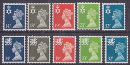 Great Britain 1971/1993 Machins / Regionals 10v ** Mnh (37871) - Local Issues