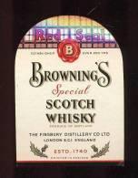 Etiquette De Scotch Whisky   - Red Seal   Browning's  -  Ecosse  (Petit Modèle) - Whisky