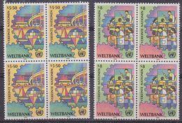 UNO Vienna 1989 World Bank 2v Bl Of 4 ** Mnh (37872) - Wenen - Kantoor Van De Verenigde Naties