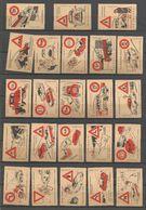 (D06-7) Collection De 29 étiquettes - Thème Sécurité Routière - Panneaux De Signalisation - Boites D'allumettes - Etiquettes
