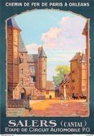 Chemins De Fer De P.O. Salers (Cantal) Circuit Automobile - Postcard - Poster Reproduction - Publicité