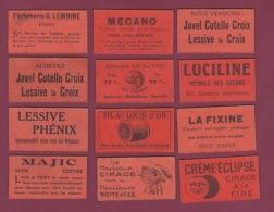 110318 - 12 Bons De Nécessité Monnaie - LA RUCHE MERIDIONALE Abeille Lune - Cirage ECLIPSE Savon MAJIC Fil Parfumerie - Monedas / De Necesidad
