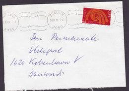 Norway TMS Cds. SVELVIK 1973 Cover Brief Denmark Europa CEPT Stamp - Norwegen