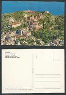CARTOLINA TAORMINA PANORAMA E TEATRO GRECO - C16 - Italien