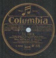 "78 Tours - NITTA-JO  - COLUMBIA 279  "" TA VOIX  "" + "" SAINTE CATHERINE DE PARIS "" - 78 Rpm - Gramophone Records"