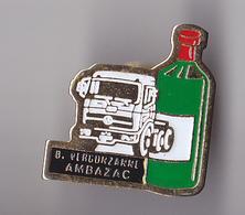 PIN'S THEME MERCEDES  CAMION  TRANSPORT VERGUZANNE  A AMBAZAC  EN GIRONDE - Mercedes